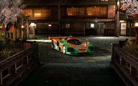 Картинка деревья, дом, cars, Gran Turismo 5, racing, sports, mazda 787b
