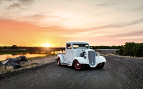 Картинка car, chevrolet, retro, pickup, lunchbox photoworks