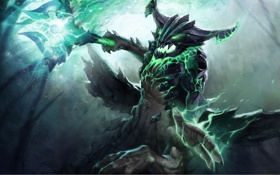 Обои fantasy, art, valve, evil, dota 2, outworld devourer