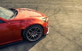 Картинка Orange, Toyota, GT86, Wheels, Asphalt