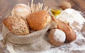 Картинка круглый, масло, хлеб, мешок, мука, батон