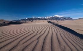 Обои desert, mountain, sand, dune