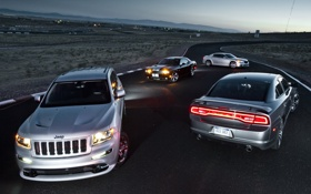 Картинка фары, Chrysler, фонари, Dodge, SRT8, Challenger, додж