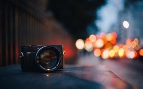 Обои фото, фотоаппарат, макро, боке