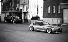 Картинка серебристая, BMW, бмв, черно-белое, silver