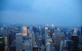 Обои город, здания, дома, америка, нью-йорк, небоскрёбы, new york