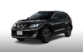Картинка внедорожник, белый фон, Nissan, ниссан, кроссовер, X-Trail, х-трейл