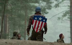 Обои герой, америка, щит, сша, супергерой, america, usa