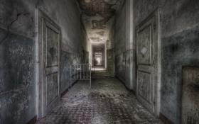 Картинка интерьер, двери, коридор