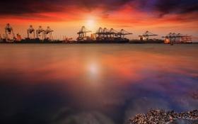 Картинка machine, thailand, ship, port, dock, terminal, Container Cargo