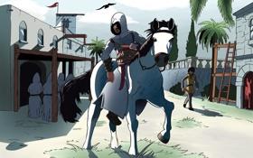 Картинка город, альтаир, Assassins creed, ассасин, altair