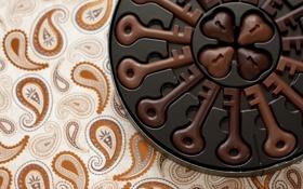 Картинка шоколад, сердечки, ключи