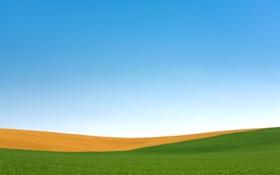 Картинка поле, осень, небо, Висконсин, США, Пальмира, полосное земледелие