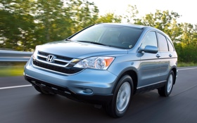 Картинка дорога, машина, Honda, универсал, CR-V