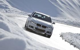 Картинка Зима, Авто, Белый, Снег, BMW, БМВ, 320d