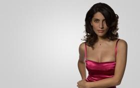 Картинка красное платье, Caterina Murino, Катерина Мурино, малиновое, светлый фон