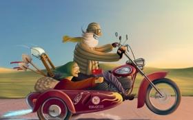 Обои прикол, мотоцикл, Настроения, дорога