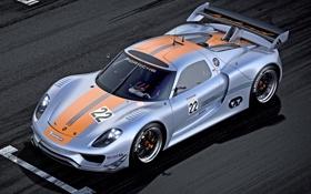 Обои Concept, Porsche, суперкар, автомобиль, 918, RSR, гоночный