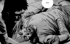 Картинка Рик, The Walking Dead, Карл, ходячие мертвецы, Robert Kirkman