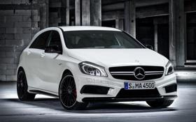 Картинка белый, Mercedes-Benz, Мерседес, AMG, передок, A 45