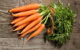 Обои трещины, стол, пучок, морковь