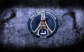 Картинка wall, logo, futbol, Paris Saint Germain