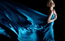 Blue, Angel, Silk, Blonde, Concept, Art, Sad, Sexy, Glamour, Hot, Girl, Model, Experiance, Beautyful, Erotic, Flawless, Skin, Female, Mood, Free, Wallpaper обои