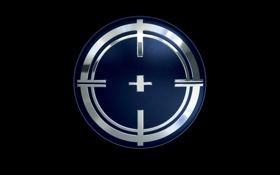 Картинка знак, минимализм, символ, эмблема, чёрный фон