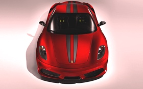 Картинка Красный, Авто, Машина, Феррари, Капот, F430, Ferrari
