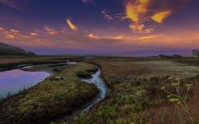 Картинка рассвет, утро, Калифорния, раннее
