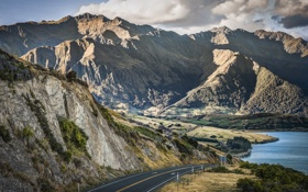 Картинка New Zealand, горы, Otago, дорога