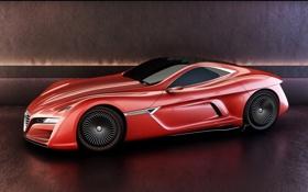 Обои концепт, спорткар, supercar, альфа ромео, Alfa-Romeo 12C GTS