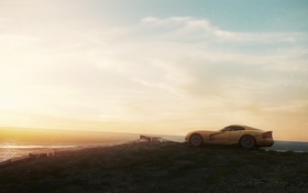 Обои Games, Need for Speed Most Wanted, ocean, Dodge Viper