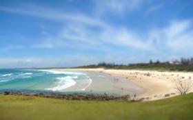 Обои Pippi Beach, Yamba, Австралия, волны, море, песок, пляж