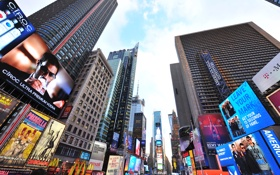 Обои times square, day, new york