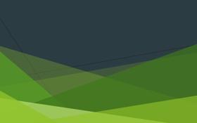 Картинка линии, зелёный, антрацитовый, пересекаются