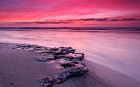 Картинка восход, океан, Argentina, Miramar