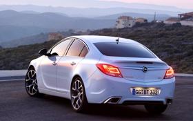 Обои белый, Вечер, Авто, Машина, Опель, Insignia, Opel