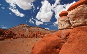 Картинка небо, облака, горы, камни, скалы