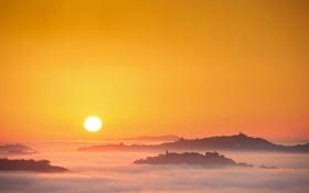 Обои небо, пейзаж, утро