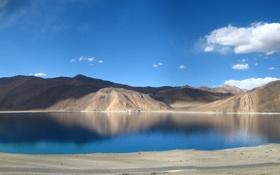 Обои Небо, Вода, Природа, Облака, Отражение, Фото, Горы
