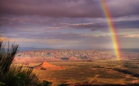 Картинка горы, скалы, пустыня, радуга, юта, долина богов