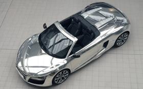 Картинка car, машина, Audi R8 V10 Spyder Chrome, 3000x2082