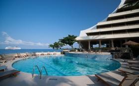 Обои бассейн, Гавайи, отель, Hawaii, hotel, Kona
