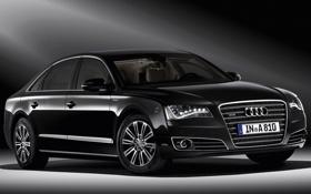Обои Audi, ауди, черная, W12, security
