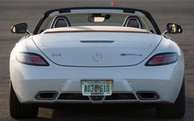 Картинка машина, Roadster, Mercedes-Benz, родстер, AMG, SLS, задок