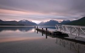 Картинка США, штат Монтана, Lake McDonald, озеро Макдональд