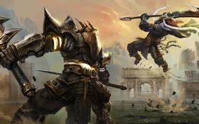 Картинка бой, арт, воины