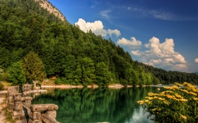 Обои горы, озеро, dreamlake bay