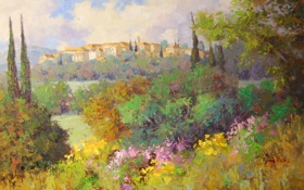 Картинка арт, Sean Wallis, Italian Afternoon